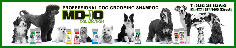 Dog Grooming Shampoo, MD10 UK Collection is professional Dog Grooming Shampoos and conditioners, One of the Best Dog Shampoo and Conditioner